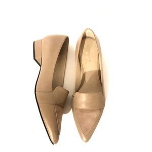 Cole Haan Nude Leather and Suede Shoes